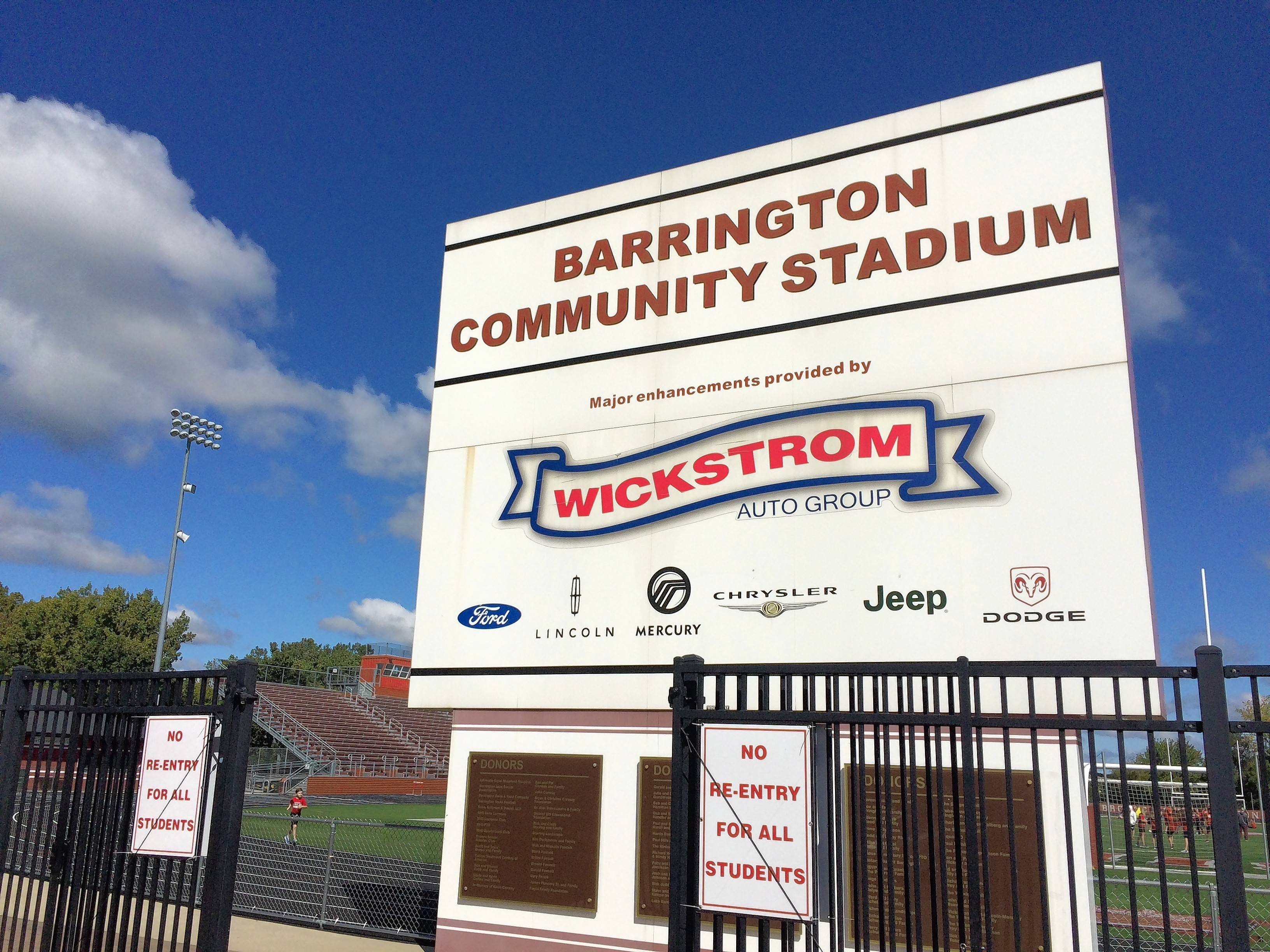 New scoreboard with video recommended for Barrington High's stadium