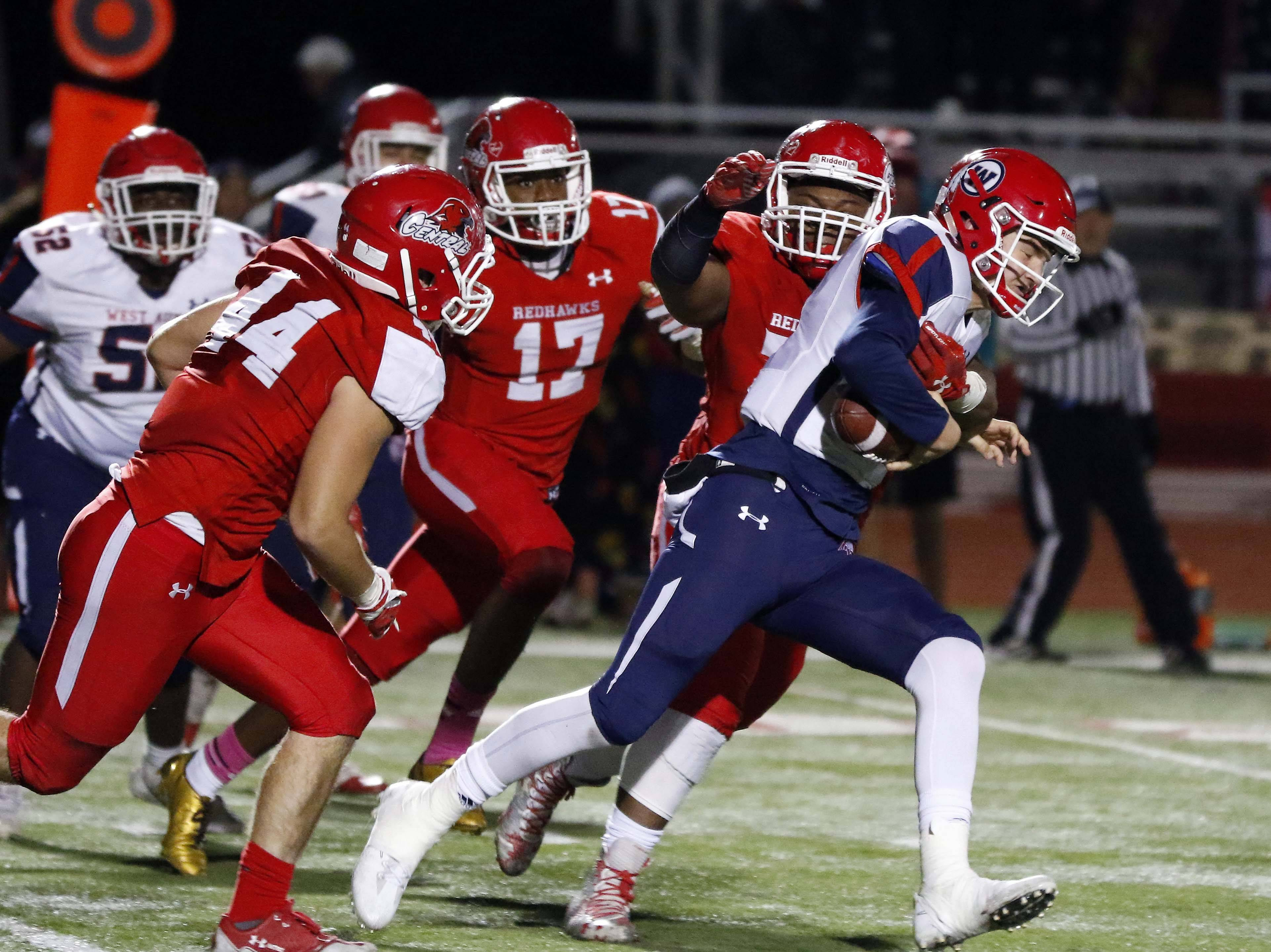 Photos from the West Aurora at Naperville Central Class 8A first round playoff football game on Friday, October 27, 2017.