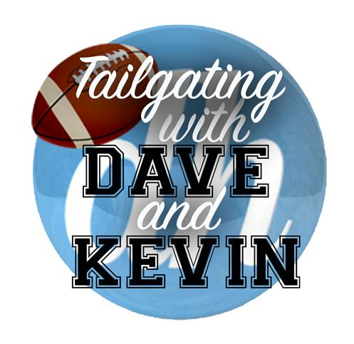 "Dave Oberhelman and Kevin Schmit host ""Tailgating with Dave and Kevin"" in a podcast format."