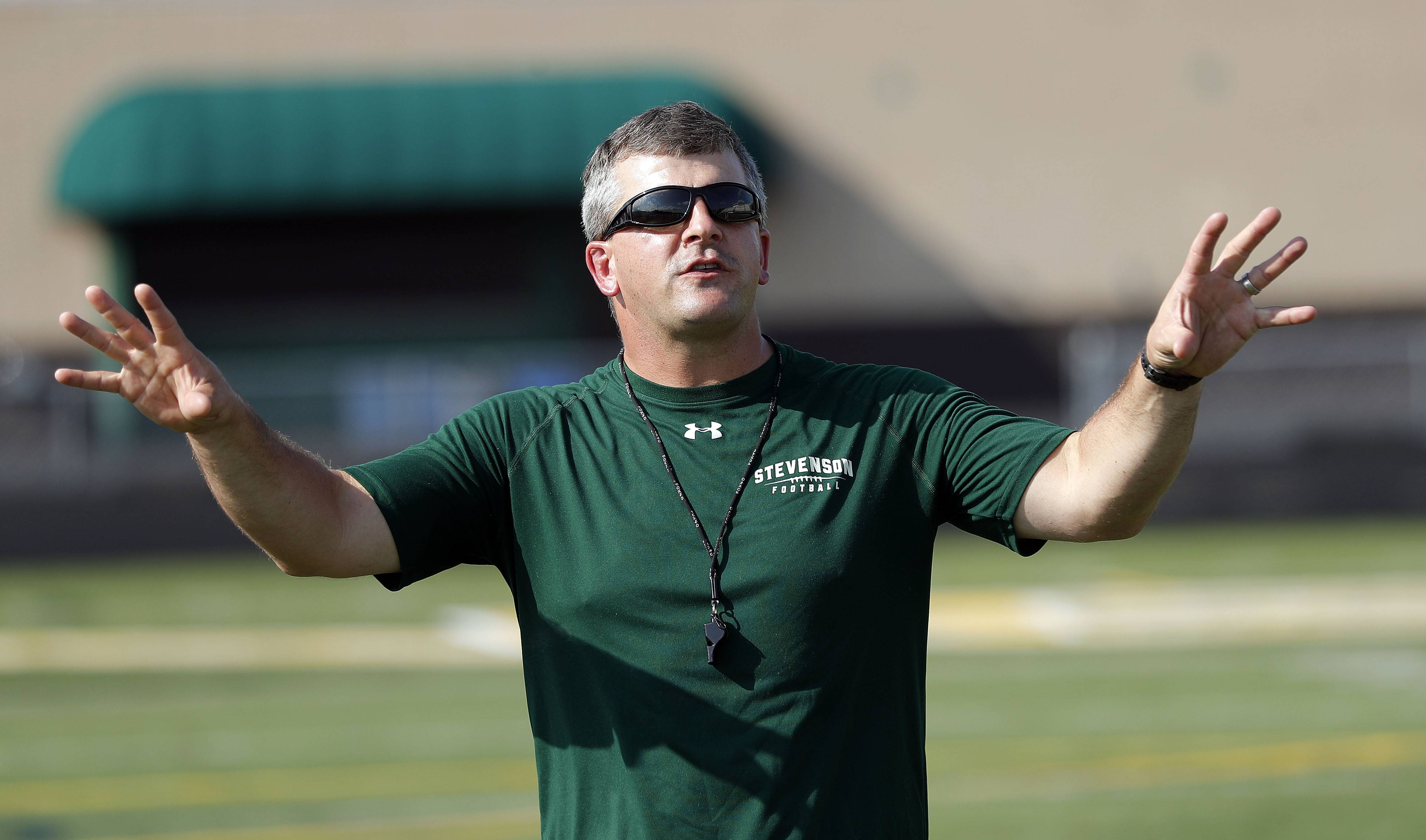 Stevenson's Josh Hjorth, who has four children under the age of 8, has stepped as Stevenson's head football coach after two seasons.