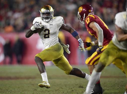 0d1ddcec6 Notre Dame running back Dexter Williams