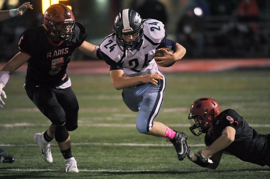 Prospect's Luke Zardzin (24) is one of the top rushers in the Northwest suburbs. He and the undefeated Knights have a showdown Friday night at unbeaten Hersey.