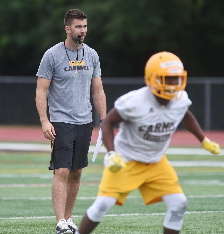 Carmel Catholic football coach and former Chicago Bears player Blake Annen has resigned, effective at the end of this season, after just two years.