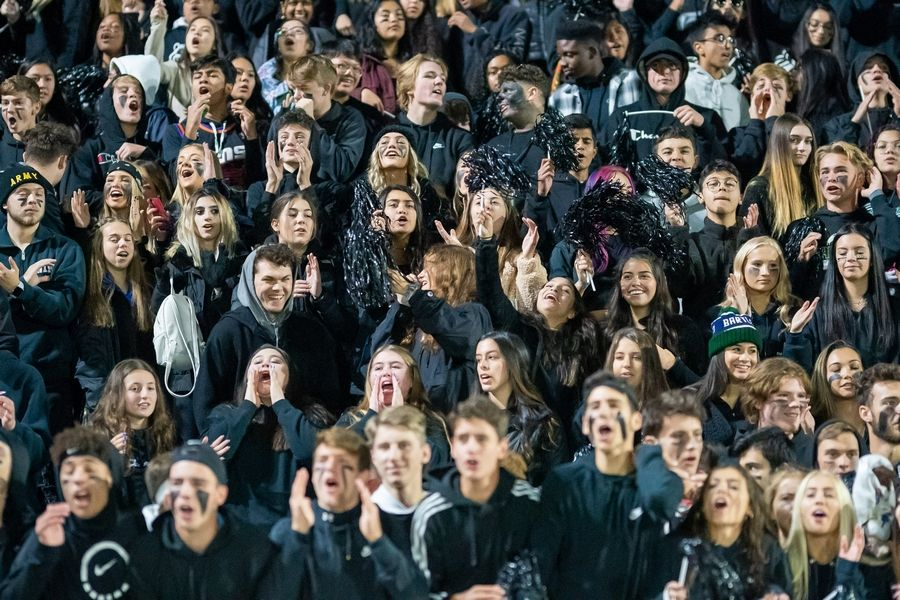 Bartlett students cheer on their team against South Elgin at Bartlett High School in Bartlett, IL on Friday, October 18, 2019