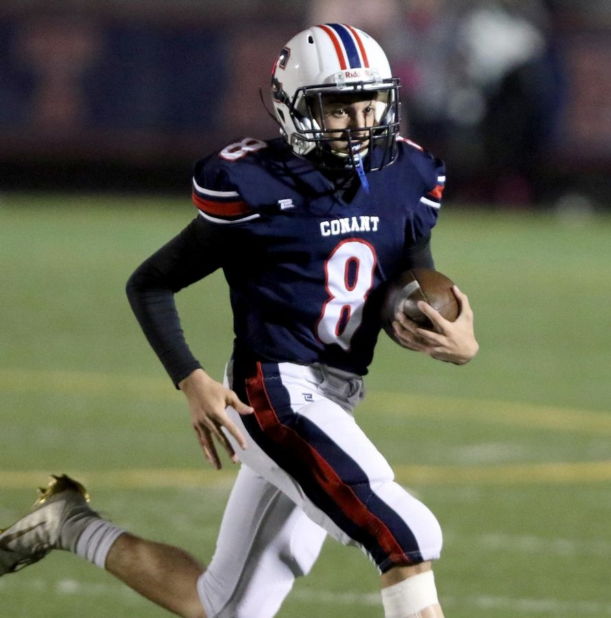 Conant's Giuseppe Dugo was injured in last week's loss to Palatine. The Cougars will try to snap a 3-game losing streak when they open the playoffs at Neuqua Valley on Saturday.