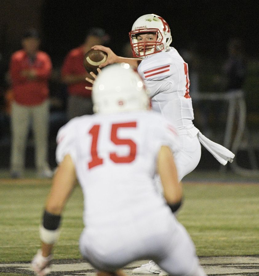 Benet feels confident in starting quarterback Colin Gillespie, above, as well as backups Michael O'Connor and Nick Bafia.