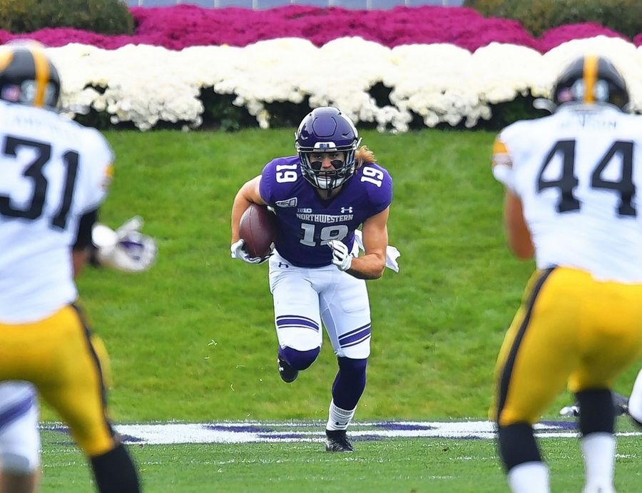 Former Libertyville star Riley Lees leads Northwestern's football team in receiving this season with 28 catches for 192 yards. The junior also leads the Wildcats in kickoff returns (25.7 yards per return).