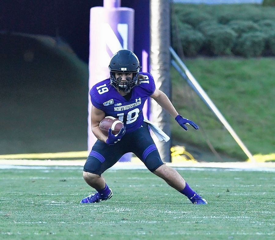 PHOTO COURTESY OF NORTHWESTERN UNIVERSITY ATHLETICSFormer Libertyville star Riley Lees leads Northwestern's football team in receiving this season with 28 catches for 192 yards. The junior also leads the Wildcats in kickoff returns (25.7 yards per return).