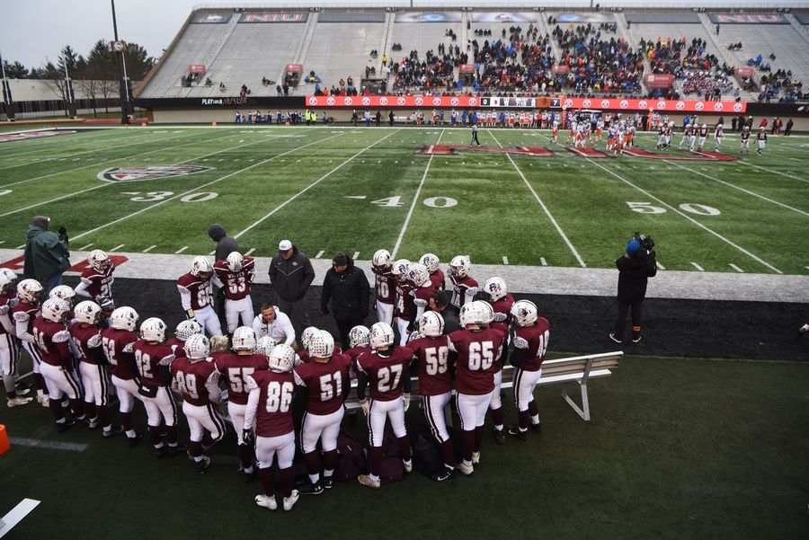 Prairie Ridge plays East St. Louis during the IHSA Class 6A state football title game at Northern Illinois University in DeKalb Saturday.