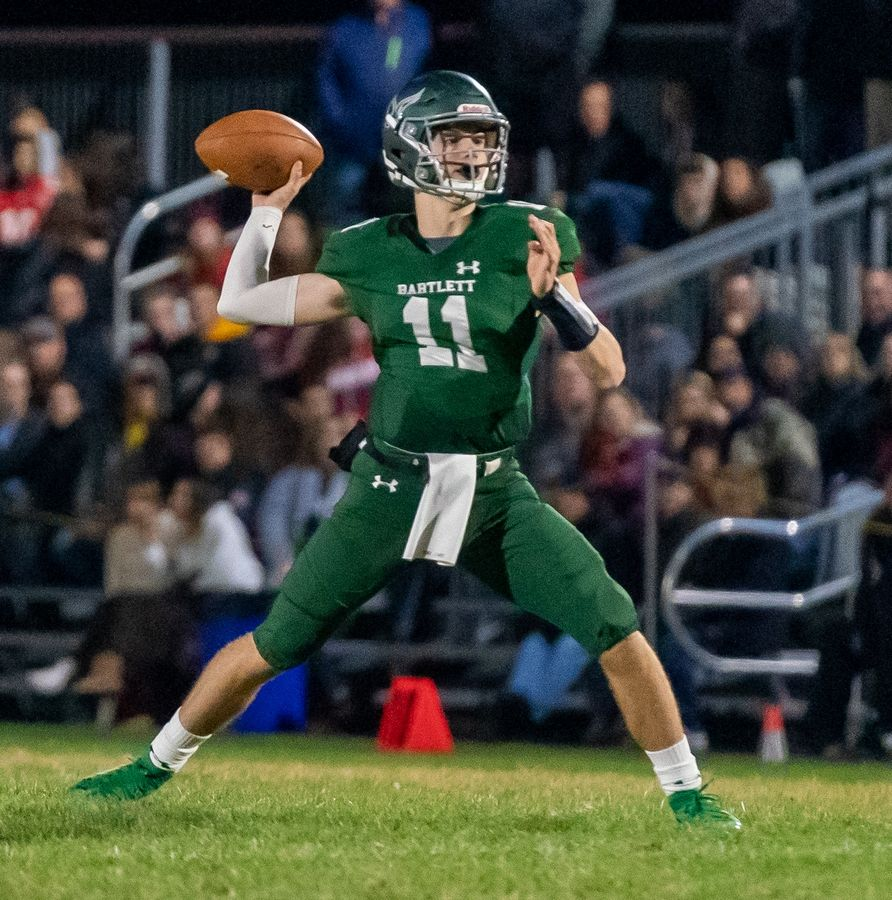 Bartlett quarterback Michael Priami has confirmed his transfer to St. Charles North.