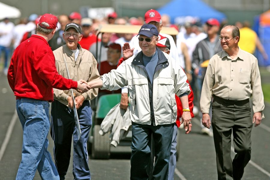 Bob Frisk was the proud Grand Marshal of the 75th annual Palatine Relays in 2007. Frisk, the legendary former sports editor of The Daily Herald, passed away Saturday at 83.