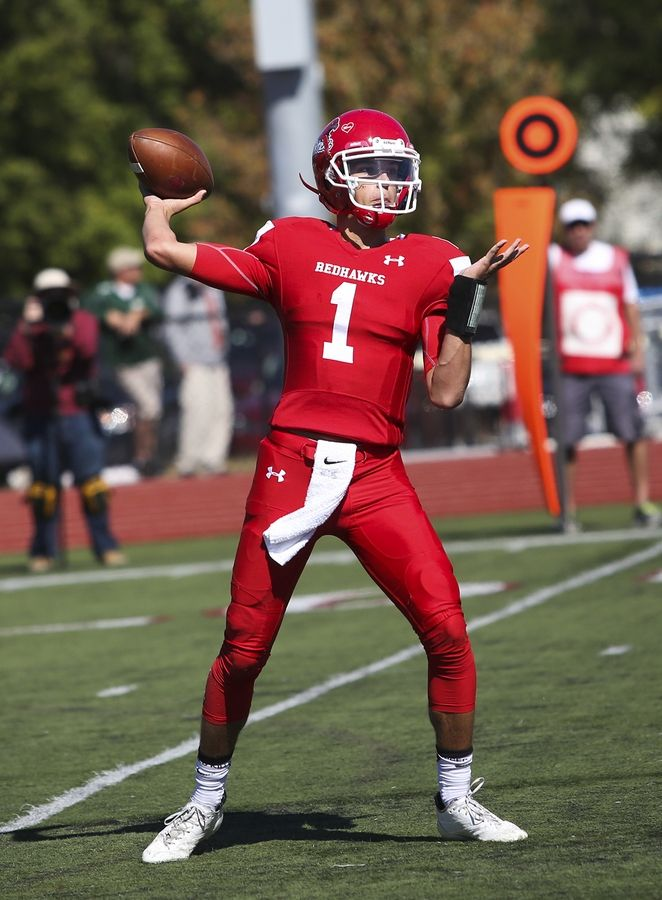 Michigan State quarterback Payton Thorne was an all-state honoree at Naperville Central.