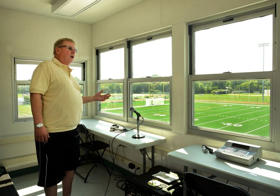 Elk Grove's Ken Grams would have celebrated 55 years announcing football games at the school on Friday night until the COVID-19 pandemic postponed the season.