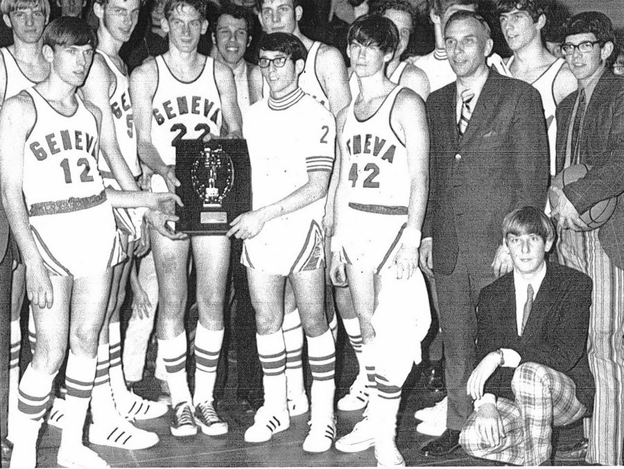 Bob Schick's 1970-71 team won the Little Seven Conference championship.