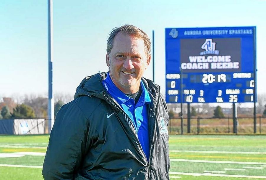 Don Beebe is head football coach at Aurora University.