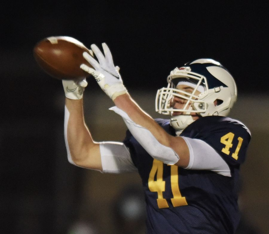 Glenbrook South's Justin Leszynski catches a pass during Friday's game against Glenbrook North.