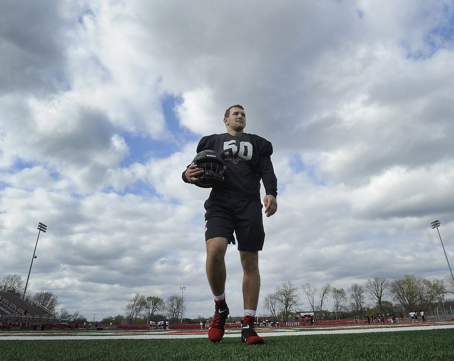 Barrington football standout Evan Roper has returned from a broken leg to become the team's best defensive player.